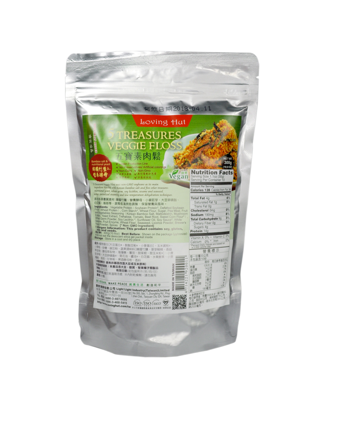 Pakage   []      5 Treasures Veggie Floss (300g)